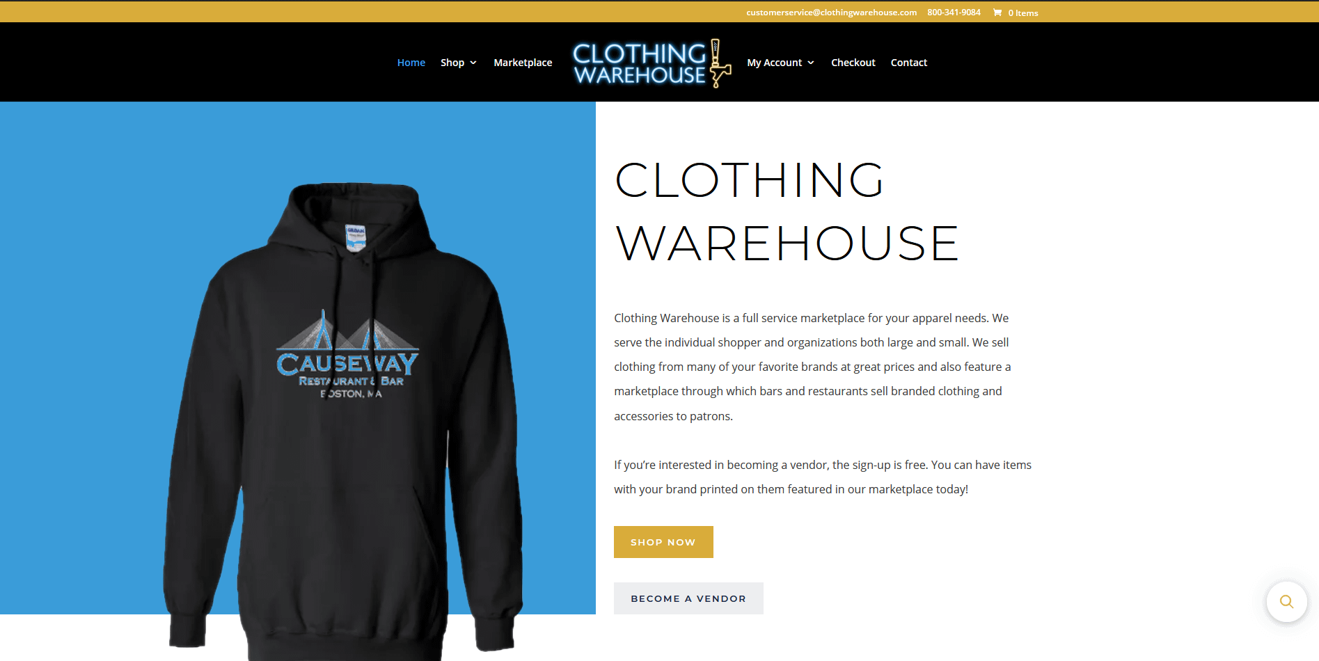 mainframe web solutions web design redesign clothing warehouse